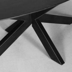 Label51 Eettafel Zion ovaal zwart 210 x 100 x 76 cm