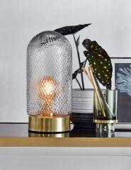 Nordal DOME tafellamp hoog geslepen glas / messing