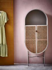 HKliving retro webbing cabinet oval grey/green