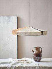 HKliving pendant rope lamp black stripe
