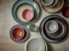 HKliving home chef ceramic side plate grey/green