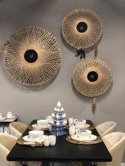 Good & Mojo Wall lamp Kalimantan bamboo flat, L