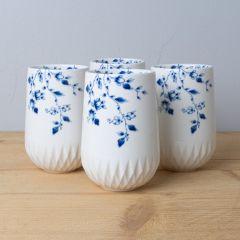 Heinen Delfts Blauw vouw cappuccino kop 350ml