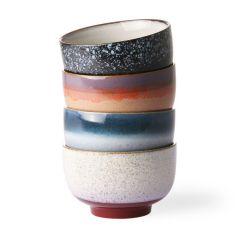 HKliving 70's ceramic noodle bowls 0,5 L (set of 4)