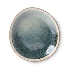 HKliving 70's ceramic side plate Mist ø22 cm