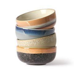HKliving 70's ceramic tapas bowls (set of 4)