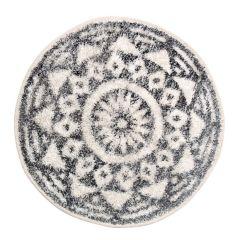HKliving badmat rond zwart wit ø60 cm
