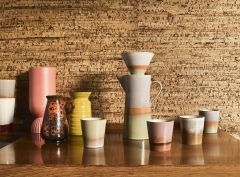 HKliving 70's ceramic coffee pot Saturn