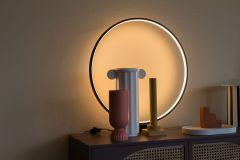 HKliving Circle tafellamp zwart 60 cm