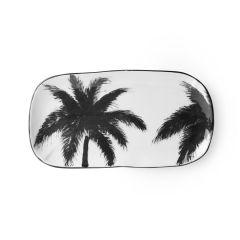 HKliving bold & basic ceramic Jungle serving tray palms porcelain
