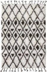 Showmodel - HKliving karpet wol ruitmotief bruin wit 120x180 cm