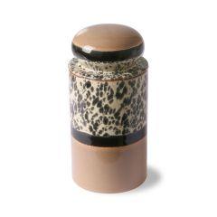 HKliving 70's ceramic storage jar Tropical