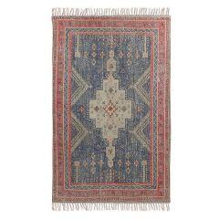 HKliving  bedrukt vloerkleed rood / blauw overtufted 150 x 240 cm