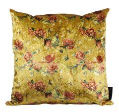 Home junky kussen rozen / geel 45 x 45 cm