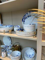 Heinen Delfts Blauw bloesem soepkom 16 x 7 cm