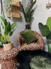 PTP poef leopard 45x45