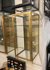 Nordal SIRI vitrinekast 1 deurs, goud metaal