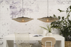 Good & Mojo Hanging lamp Kalimantan bamboo flat, L