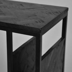 Label51 Shift laptoptafel mangohout zwart 35 x 50 x 62 cm
