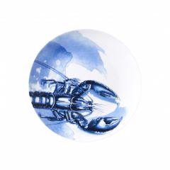 Heinen Delfts Blauw wandbord kreeft licht