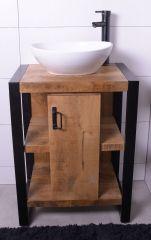 MD Interior Mocu wastafelmeubel met keramische kom 60cm