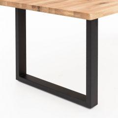 MD Interior tafelpoten set U-poot zwart metaal 8x4