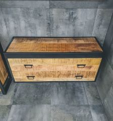 MD Interior Woodz badkamermeubel 120cm mangohout zonder kom