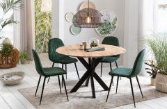 MD Interior Round eettafel 120 eikenhout