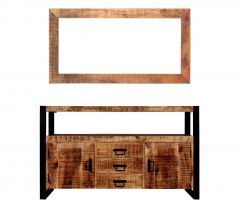MD Interior Woodz spiegel met mangohouten rand 70x135 cm