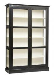 Nordal Denmark Wandkast hout dubbele deur zwart wit L 212 x 148