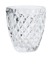 Nordal Denmark bewerkte glazen, transparant, per 6