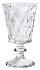 Nordal Denmark stevige wittewijnglazen, transparant met kristal look, per 6.
