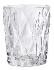 Nordal Denmark stevige waterglazen, transparant met kristal look, per 6.