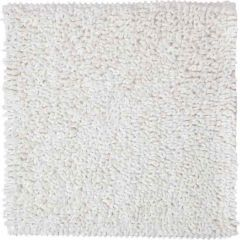 Sealskin badmat Furry wit microfiber 60x60