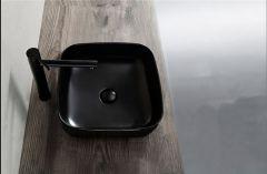 Saniclear Premium waskom 40x40cm wastafel mat zwart