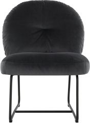 Must living Bouton fauteuil donkergrijs 79x60x80 cm