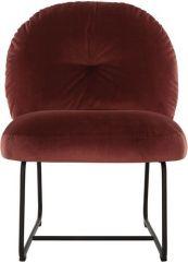 Showmodel - Must living Bouton fauteuil bordeaux 79x60x80 cm