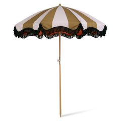 HKliving DORIS beach umbrella classic nude/mustard