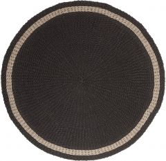 Must living Prado karpet zwart Ø150 cm
