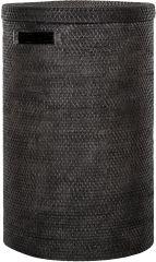 Must Living rattan Flores wasmand zwart 63 x Ø 40 cm