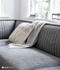 Must Living sofa Rally 4-zitsbank antraciet 308cm
