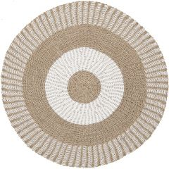 Must living soleil carpet naturel / wit Ø150 cm