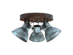 NEW Home Houston industriële plafondlamp rond 3 metalen spots Ø35