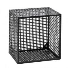Nordal Wire wandmeubel klein zwart gaas metaal 32x32