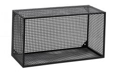 Nordal Wire wandmeubel klein zwart gaas metaal 32x60