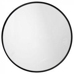 Nordal spiegel rond ijzer zwart Ø80