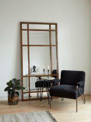 Nordal SPIRIT wandspiegel met bergenhout frame groot 203 x 101 cm