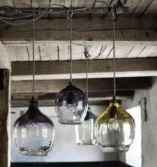 Nordal BUBBLE glas hanglamp, smoke, small