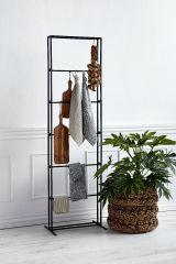 Nordal Carve kledingrek / rek metaal zwart 190x52x31