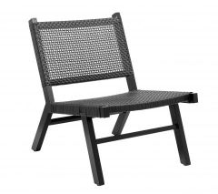 Nordal VASAI lounge stoel zwart